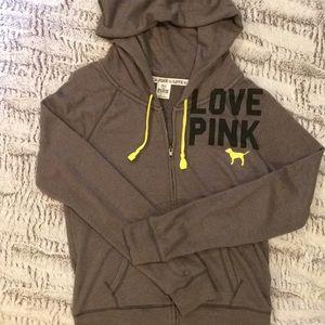 VS PINK Hooded Zip-Up Sweatshirt